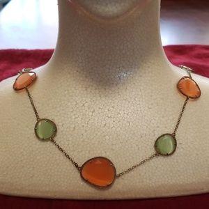 Sea glass stone necklace